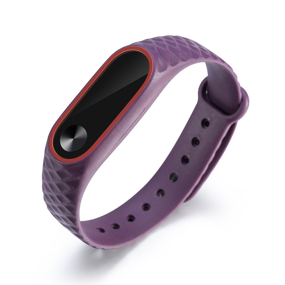 CSSD Clearance Unisex Fashion Replacement Silicone Watch Bands Wrist Strap For Xiaomi Mi Band 2 (Purple)