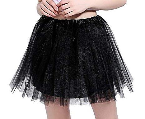 a940609f609 iLoveCos Années 80 Fluo Néon Tutu de Ballet Filles Bulle Jupe de Danse Mini  Tulle Jupon