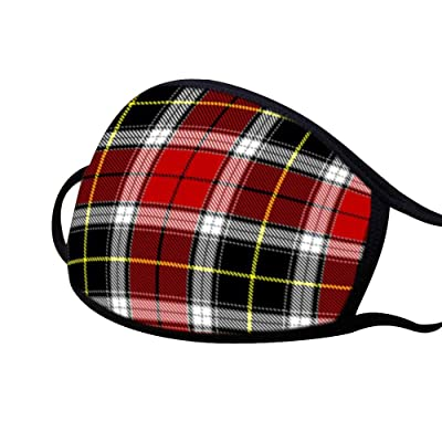 PYL Face Cover Plaid Letter Printed Mouth Cover Protecive Gear Fashion Pattern Accesory for Unisex Adult and Child,6 PCS/Pack: Clothing