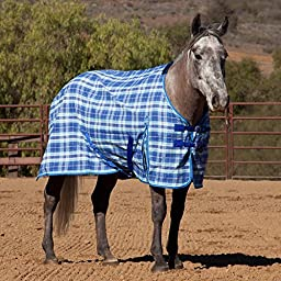 Kensington KPP Poly Day Sheet, Blue Ice Plaid, 75