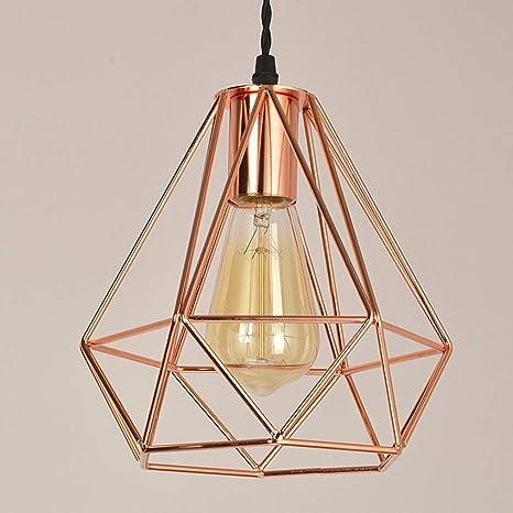 Lámpara colgante moderna de techo Lámpara colgante Cobre Chapado ...