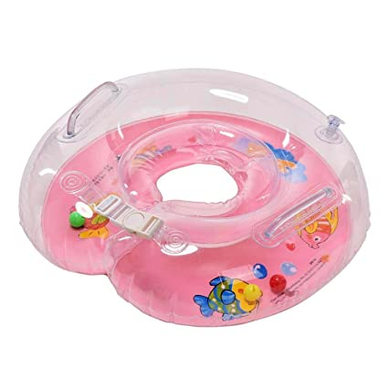 Infant Natación Flotador Inflable Anillo de Seguridad Inflable de Piscina Nadar (Rosa)