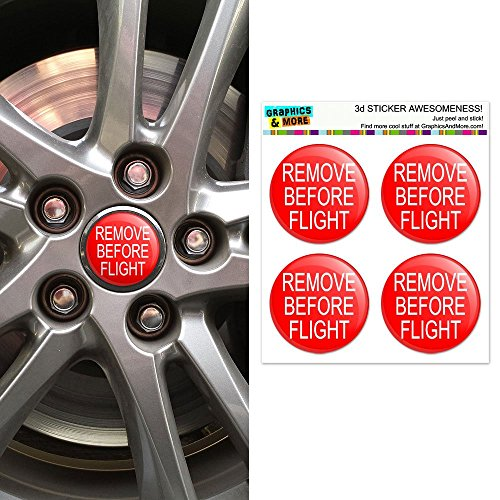 graphics-and-more-remove-before-flight-airplane-warning-wheel-center-cap-3d-domed-stickers-badges-se