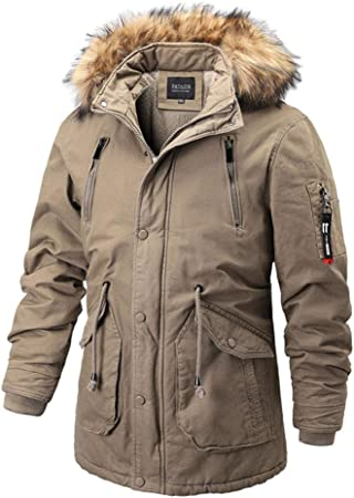 Mens Thick Winter Coat 100% Polyester Filling Jacket Cheap Parka