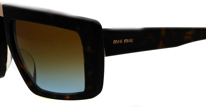 Amazon.com: Miu Miu anteojos de sol MU 05OS 2 AU1 F0 Habana ...