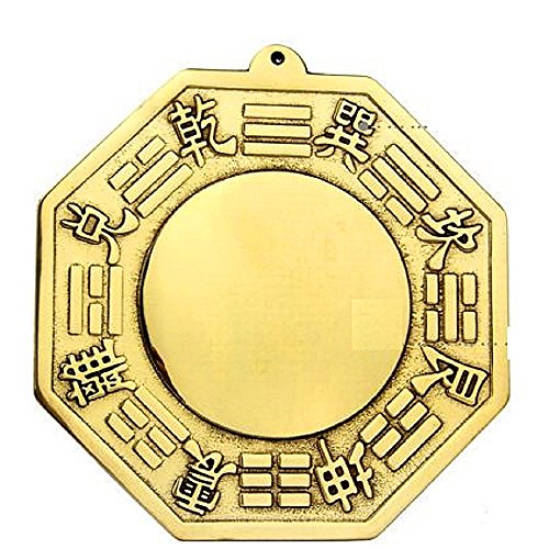 Concave Wall Aquarium (T2C Bagua Luo board mirror back Gold Chinese feng shui entrance mirror Goods for powerful Luck & Success Protection Charm)