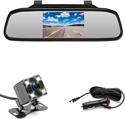 4 LEDs Mini Waterproof Car Vehicle Parking Reversing Backup Rear View Camera