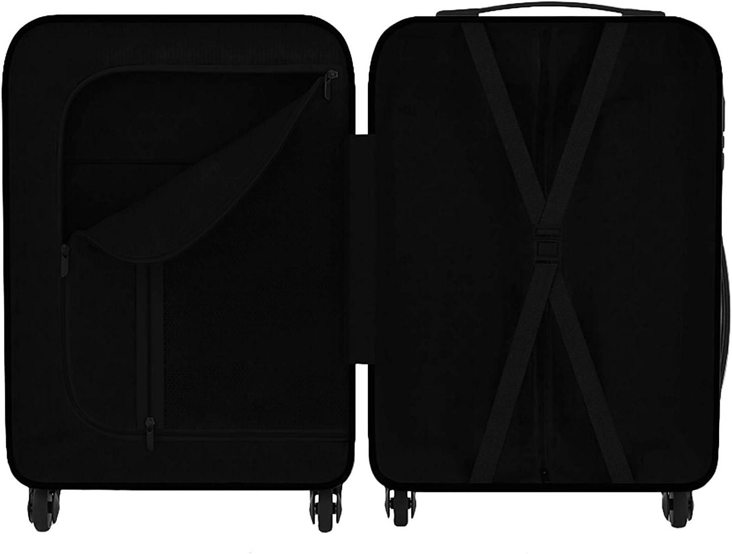 Trolley /à coque dure Eglemtek Valise cabine 55cm ABS ultra L/éger 4 roues- couleur noire