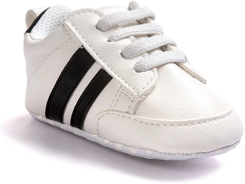 Fossen Zapatos de beb/é calzado deportivo de cuero antideslizante inferior suave para ni/ños peque/ños infantiles Primeros pasos