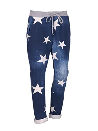 c3e51617c9eb5 LushStyleUK New Ladies Italian Star Print Floral Trouser Women Summer Trouser  Plus Sizes (Denim)  Amazon.co.uk  Clothing
