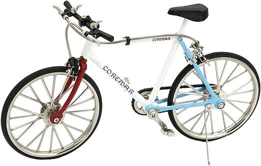 Toygogo Bicicleta Realista Escala 1:10 3D Metal Bicicleta de ...