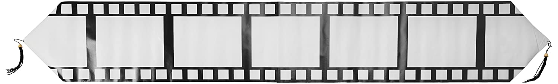 White//Black 11 x 6 Beistle 54718 Printed Filmstrip Table Runner