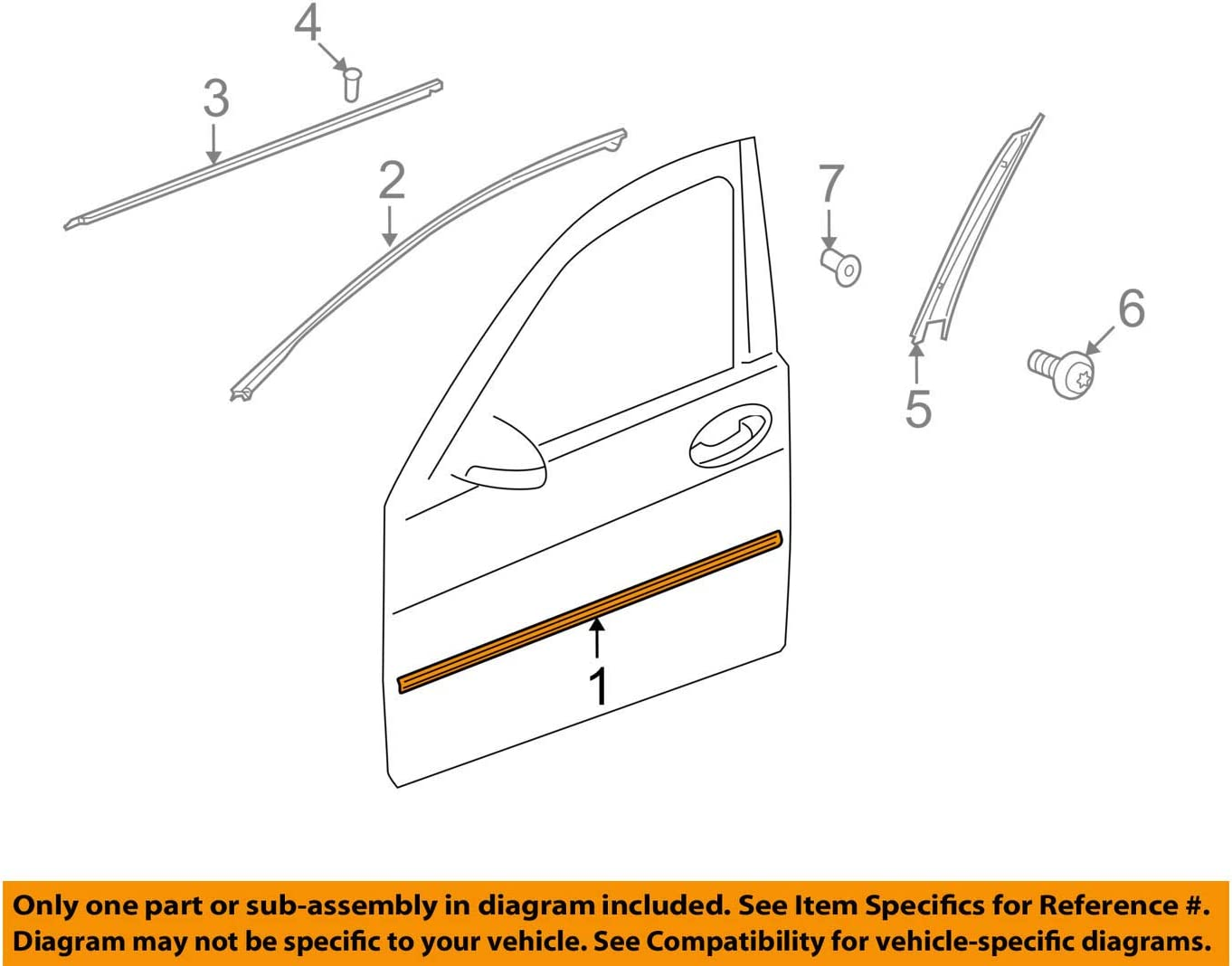 Mercedes Benz Genuine Body Side Molding 221-690-41-80