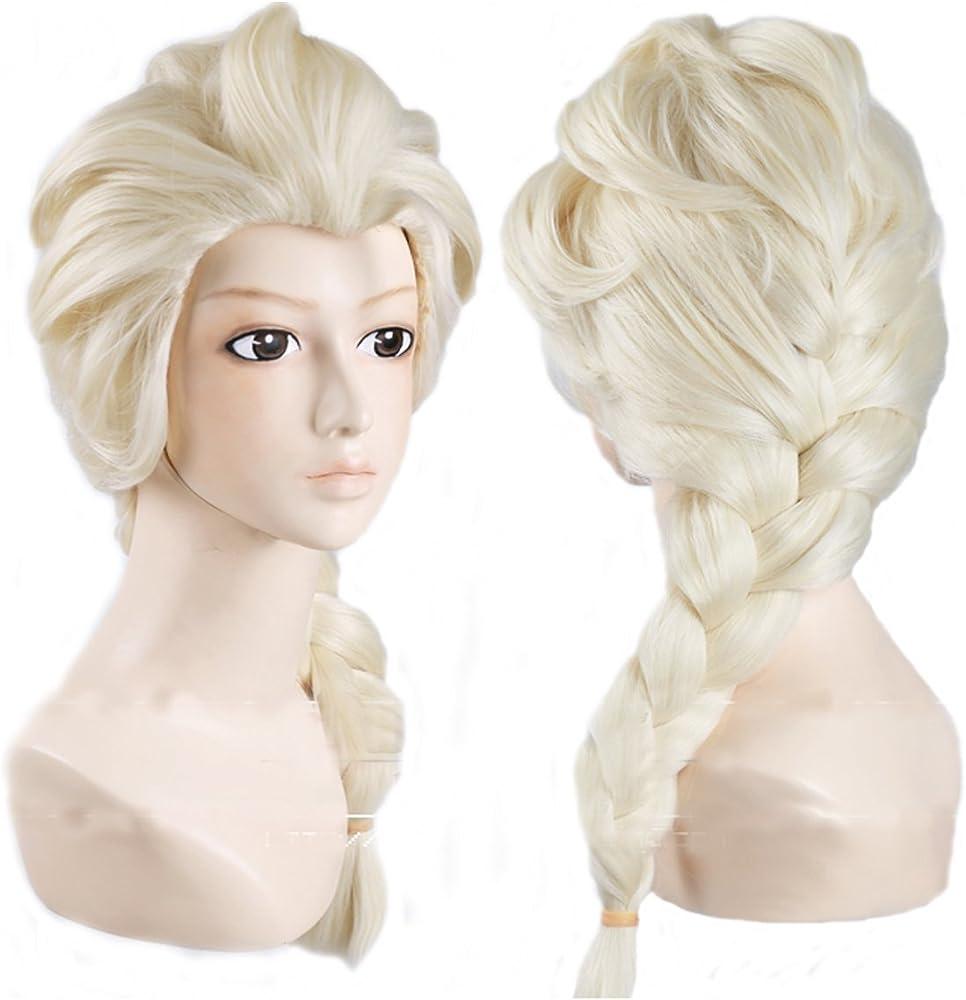 topluck Elsa Adulto Princess Salon Calidad Disfraz Peluca sólo ...
