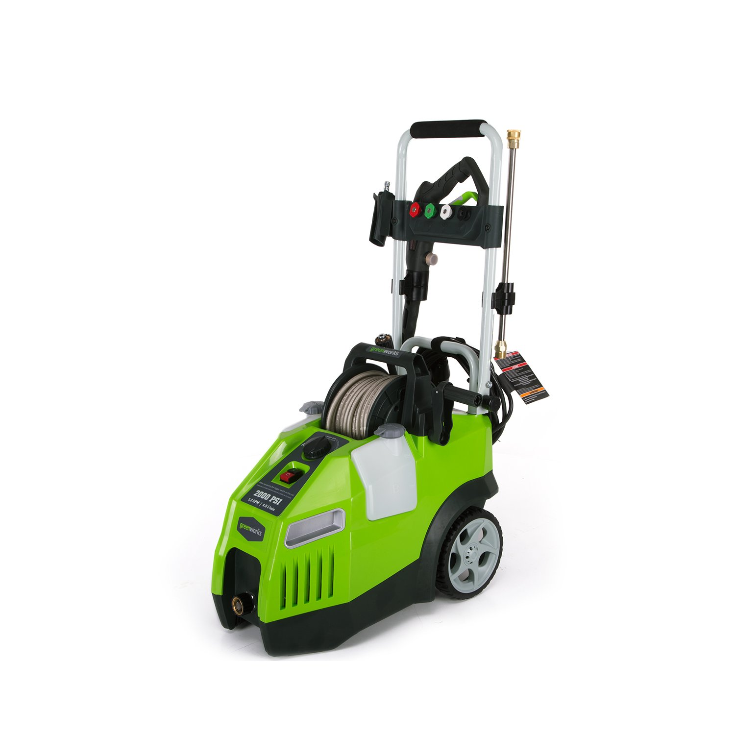 Greenworks 2000 PSI 13 Amp 1.2 GPM Pressure Washer with Hose Reel GPW2001 by Greenworks (Image #3)