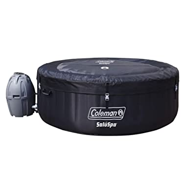 Coleman 71  x 26  Portable Spa Inflatable 4-Person Hot Tub, Black, 13804