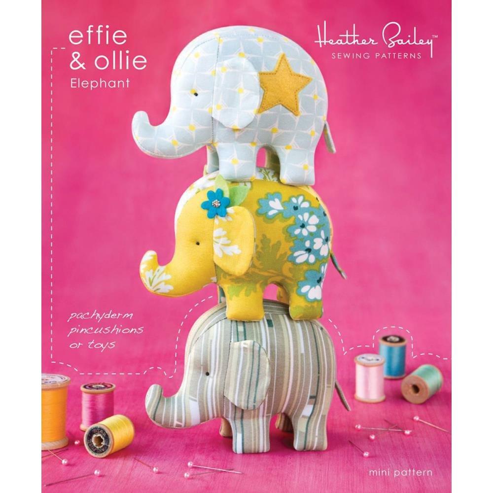 Heather bailey effie ollie mini elephant sewing pattern amazon heather bailey effie ollie mini elephant sewing pattern amazon home kitchen jeuxipadfo Gallery