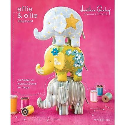 Amazon.com: Effie & Ollie Mini Elephant Pattern Heather Bailey ...
