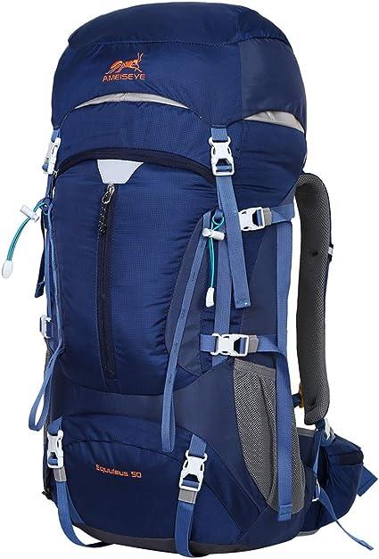 Eshow 50L Sac à Dos Randonnée Imperméable Ultraléger pour Homme Femme avec  Housse antipluie pour Alpinisme Escalade Trekking Sport Voyage Loisir ...