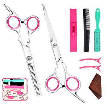 Bangs Hair Scissor Thin Flat Cut Cutting Teeth Barber Scissors Combination  Set Hairdressing Scissors