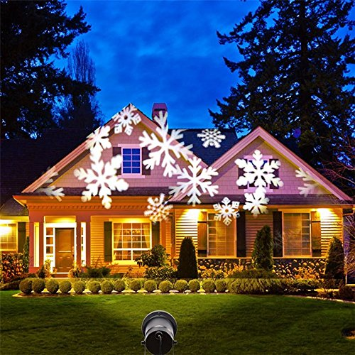 Ultimate Tree Decorated (ingeniuso Christmas Light Show, LED Laser Light Projector, Motion Spotlights)