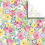 JAM Paper® Printed Gift Tissue - Watercolor Petal - 20'' x 30'' - 240 Sheets