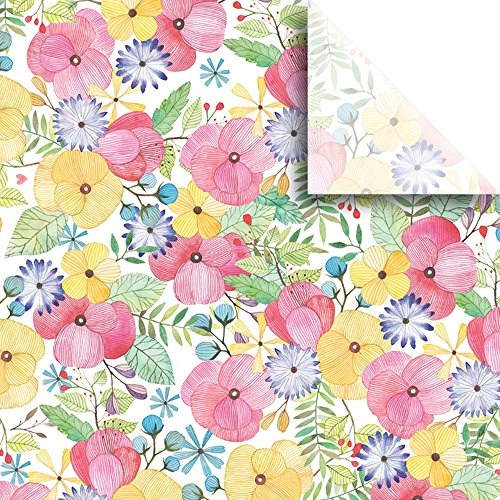 JAM Paper® Printed Gift Tissue - Watercolor Petal - 20'' x 30'' - 240 Sheets by JAM Paper