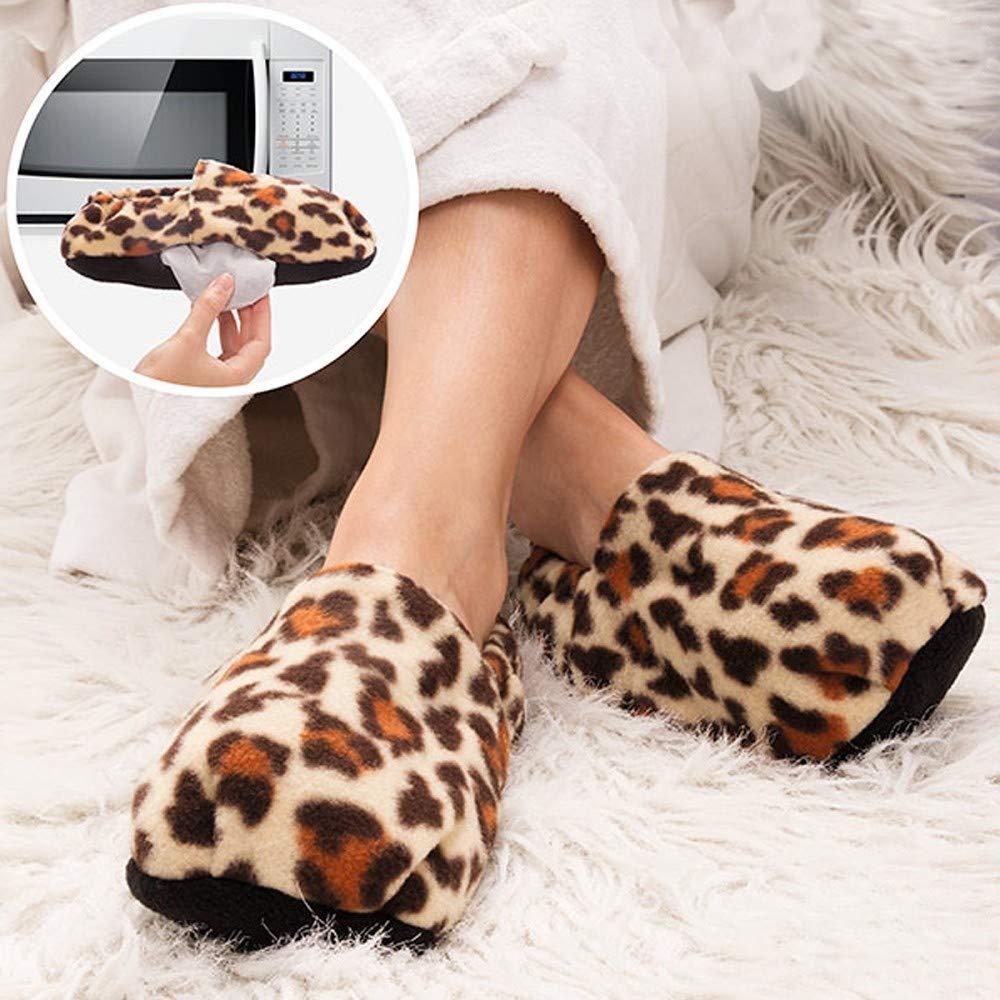 InnovaGoods IG114451 - Zapatillas de casa calentables en microondas estampado dalmata, color damata: Amazon.es: Salud y cuidado personal