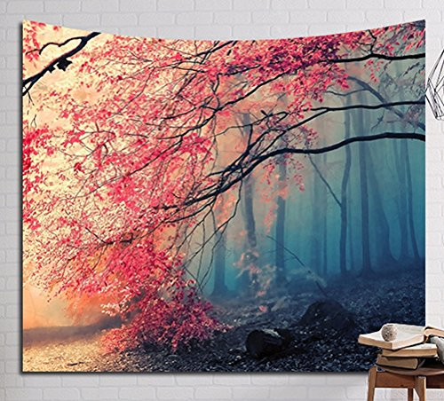 LivebyCare Multi-Size Nature Scene Wall Hanging Tapestry Mural Decoration Tablecloth Lightweight Fabric Decorative Wall Tapestries Decor Art Beach Towel Table Cloth Cover for Lobby Apartment