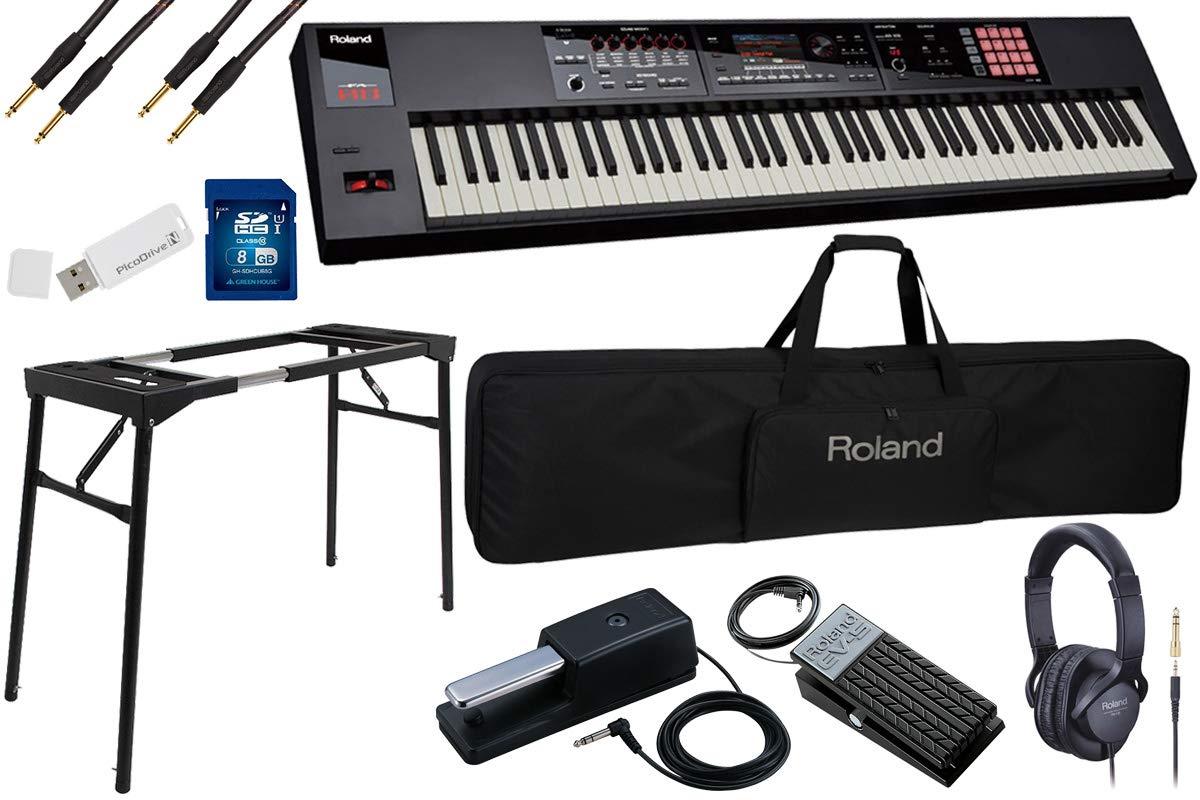 Roland ローランド/FA-08【数量限定 豪華8点セット!】88鍵盤ワークステーション《Roland純正ゴールドケーブル2本付き》   B07TZ8F32L