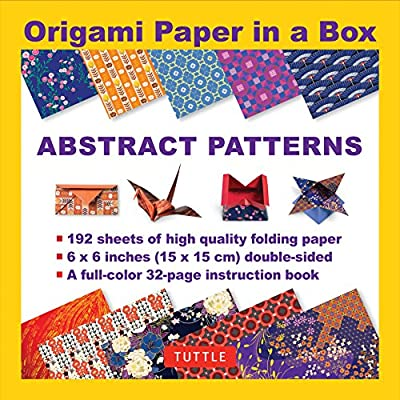 "Origami Paper in a Box - Abstract Patterns: 192 Sheets of 6 x 6"" Folding Paper & 32-page Book (Tuttle Origami Paper)"