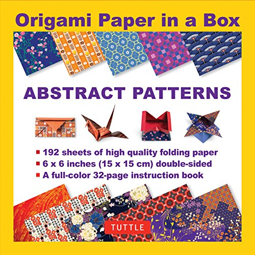 Origami Paper in a Box - Abstract Patterns: 192 Sheets of 6x6 Inch High-Quality Origami Paper & 32-page Instructional Book
