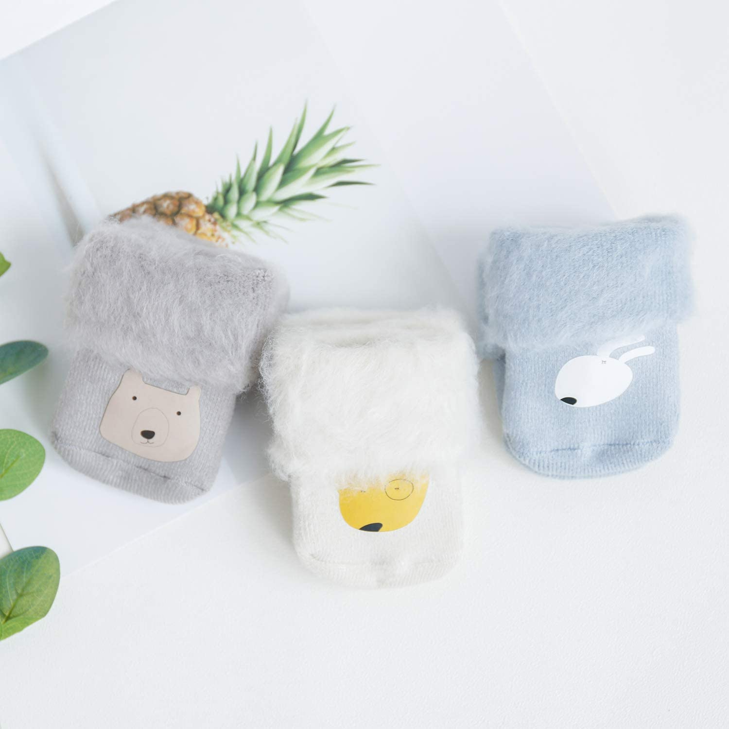 SuYoYo Baby Warm Winter Thick Fur Socks Toddler Boys Girls Socks