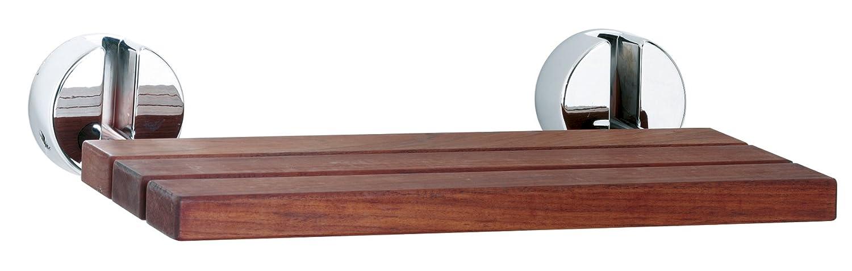 Ultra LA371 Wooden Shower Seat Chrome Hinges - Wood: Amazon.co.uk ...