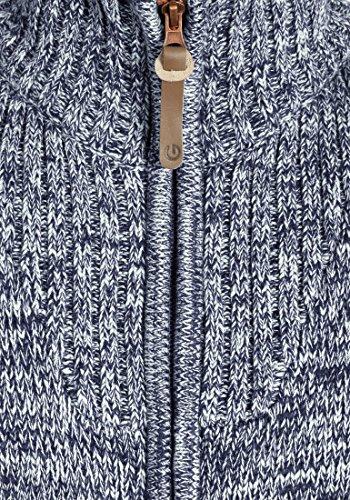 1991 Homme Coton Droit Pomeroy Maille Blue Gilet Veste Avec 100 Insignia Solid Col Cardigan Grosse En Pour Hqgfga