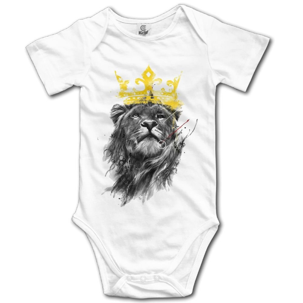 SmallHan King of Lion Unisex Particular Infant Romper Baby Girl Outfits White