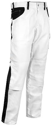 2a60ea10ba2e83 Malerhose Stuckateur Putzer Arbeitshose mit Kniepolstertaschen.  Reißverschluss YKK + Metallknopf YKK - Made in EU