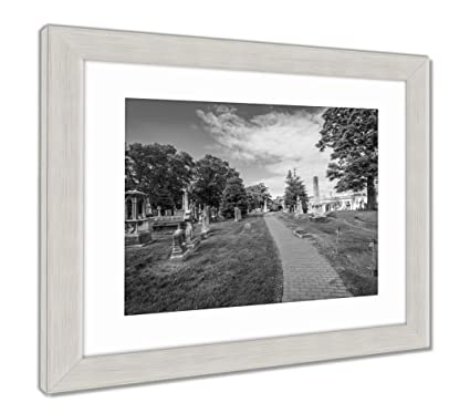 Amazon.com: Ashley Framed Prints Walkway And Graves At Laurel Hill ...