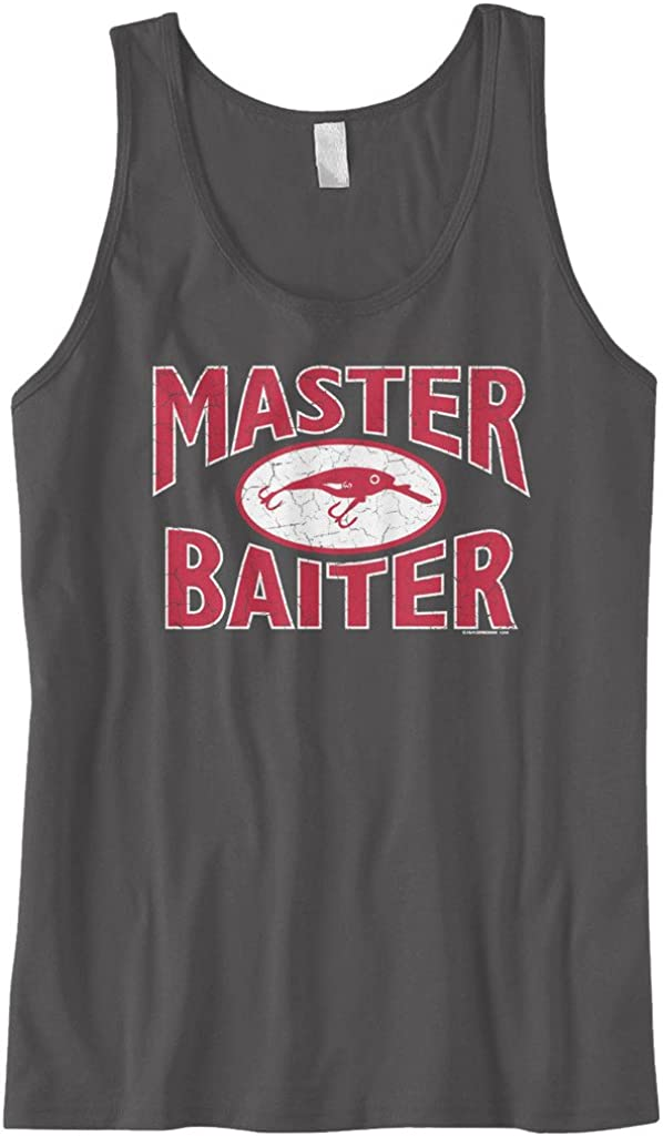 Funny Fishing Tank Top Cybertela Mens Master Baiter Fish Lure