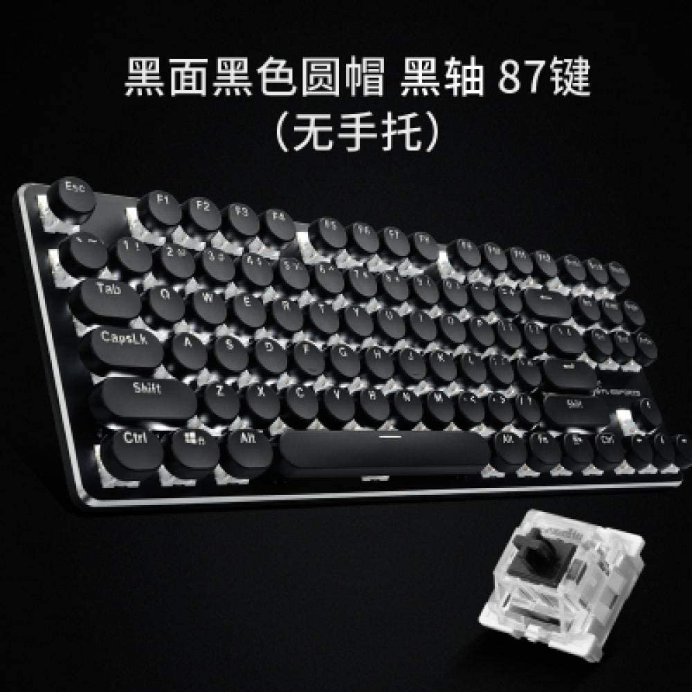 Teclado redondo retro juegos luminosos teclado mecánico-tecla ...
