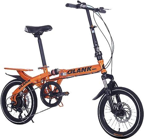 YBCN Bicicleta Plegable, 14 Pulgadas, 16 Pulgadas, 6 velocidades ...