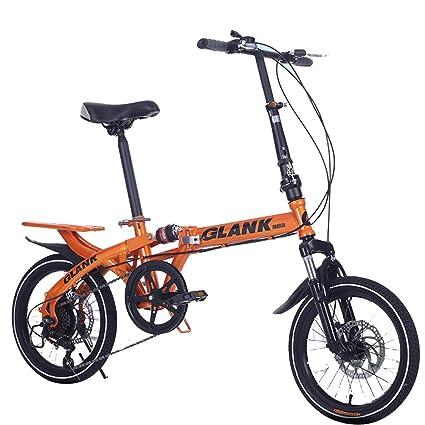 YBCN Bicicleta Plegable, 14 Pulgadas, 16 Pulgadas, 6 ...