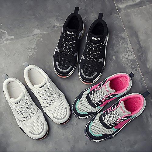 Jackshibo Kvinnor Kör Gymnastikskor, Mode Lätta Sneakers Mesh Tillfälliga Promenadskor Vit