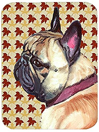 Multicolor Carolines Treasures LH9552LCB French Bulldog Frenchie Candy Corn Halloween Glass Cutting Board Large