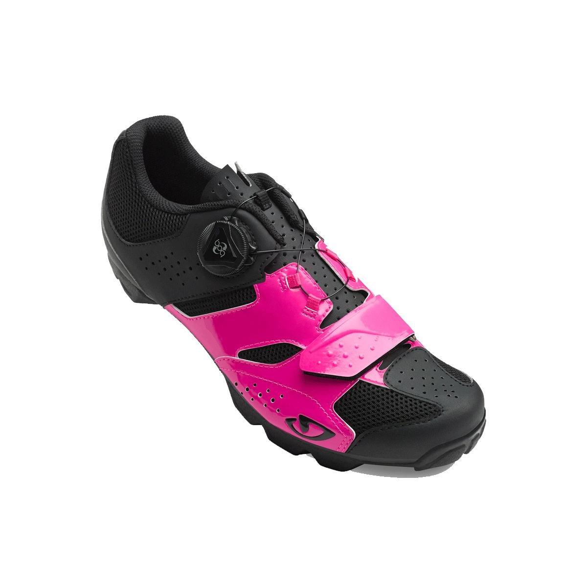 Giro円柱サイクリング靴 – Women 's B075RP4XFX 41 Bright Pink/Black Bright Pink/Black 41