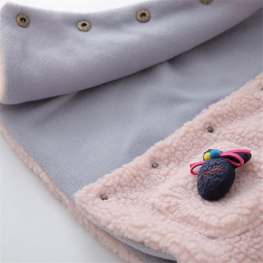 LittleSpring Little Girls Sleeve Wool Pocket Rabbit Hoodies