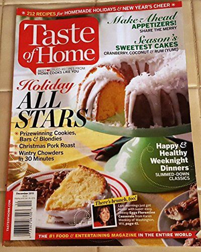 Taste of Home Magazine (December 2015, - Recipes From families Like Yours) (Christmas Taste Dinner Home Of)