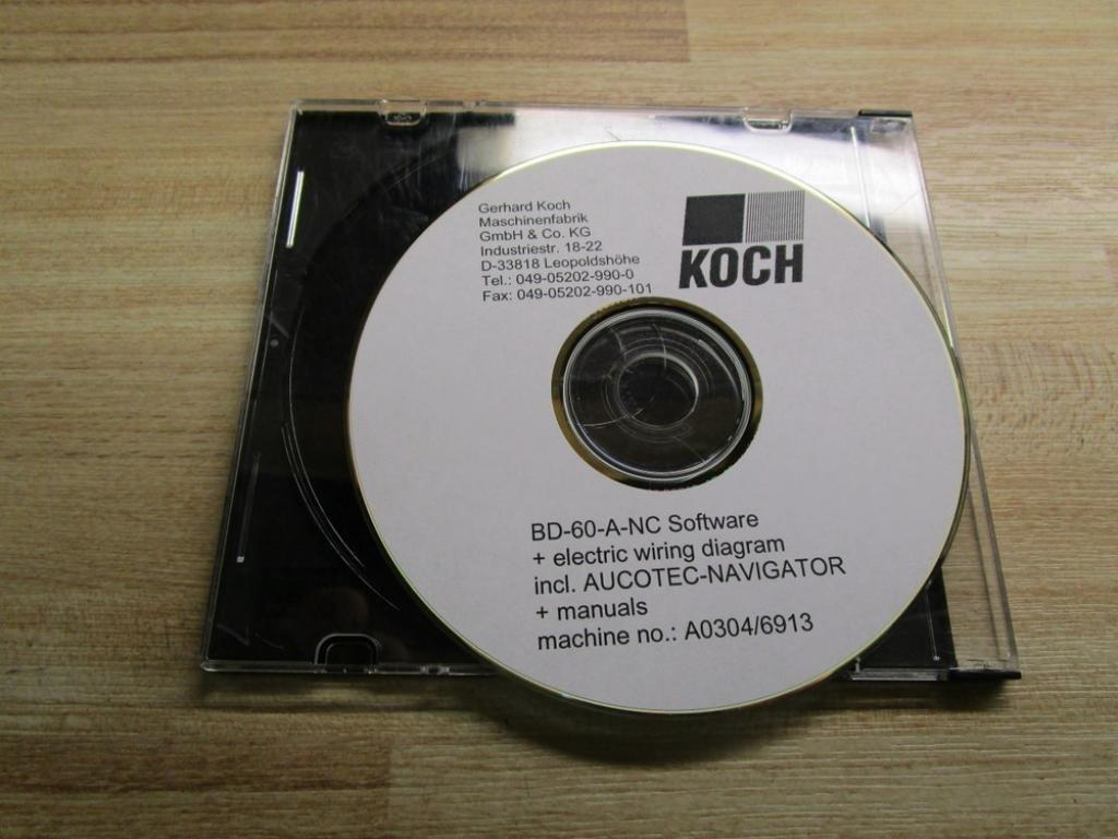 Koch Bd 60 A Nc Software Machine Noa0304 6913 Wiring Diagram Industrial Scientific