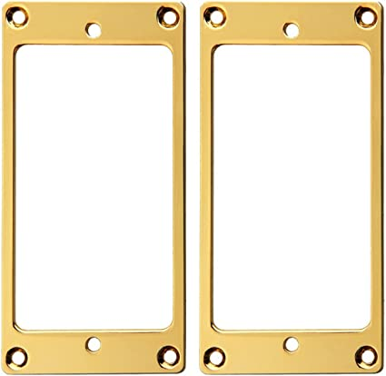 Gold plated Metal flat humbucker pickup mounting ring for guitar