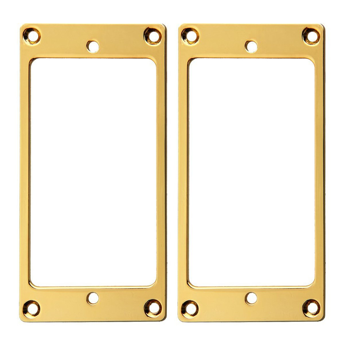 Musiclily Metal Flat Electric Guitar Humbucker Pickup Mounting Frame Ring, Chrome (Pack of 2) MX0643-2